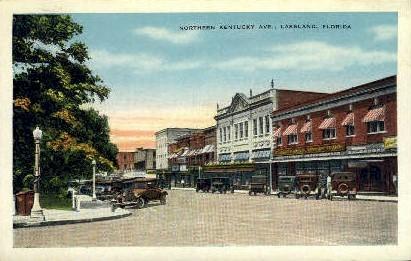 Northern Kentucky Avenue - Lakeland, Florida FL Postcard