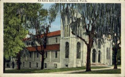 All Saint's Episcopal Church - Lakeland, Florida FL Postcard