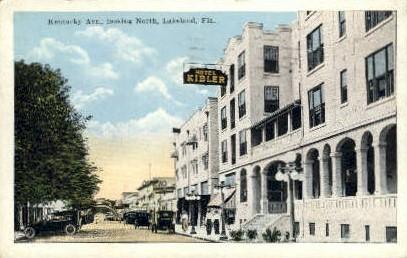 Kentucky Avenue - Lakeland, Florida FL Postcard