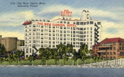 New Florida Hotel - Lakeland Postcard