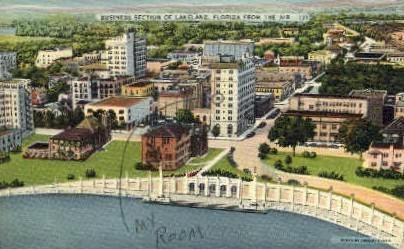 Business Section - Lakeland, Florida FL Postcard