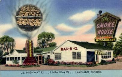 Smoke House Restaurant - Lakeland, Florida FL Postcard