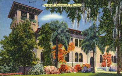 City Hall - Lakeland, Florida FL Postcard