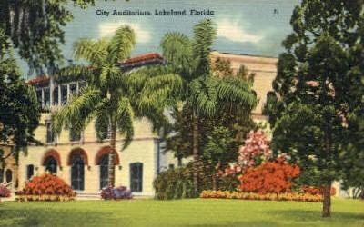 City Auditorium - Lakeland, Florida FL Postcard