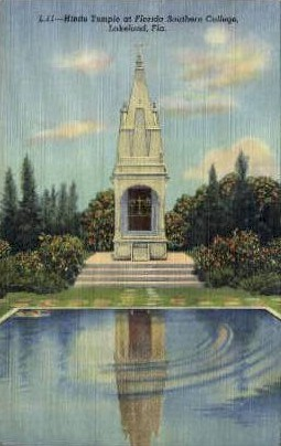 Hindu Temple - Lakeland, Florida FL Postcard