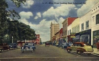 Main Street - Lakeland, Florida FL Postcard