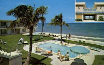 Tropic Seas Club Apartments - Lauderdale by the Sea, Florida FL Postcard