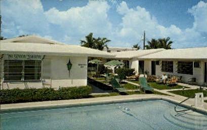 Green Lantern Motel - Lauderdale by the Sea, Florida FL Postcard