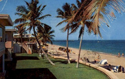 Fishing Pier - Lauderdale by the Sea, Florida FL Postcard
