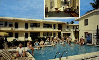 Sea Lure Apartments - Lauderdale by the Sea, Florida FL Postcard