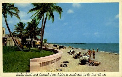 Lauderdale by the Sea, Florida, FL Postcard