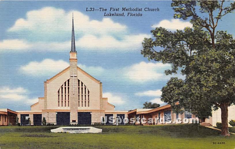 First Methodist Church - Lakeland, Florida FL Postcard