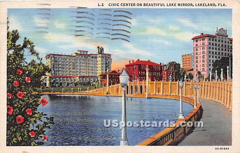 Civic Center Building - Lakeland, Florida FL Postcard