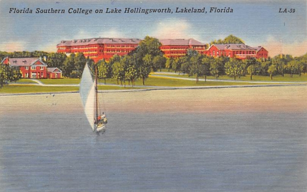 Florida Southern College on Lake Hollingsworth Postcard