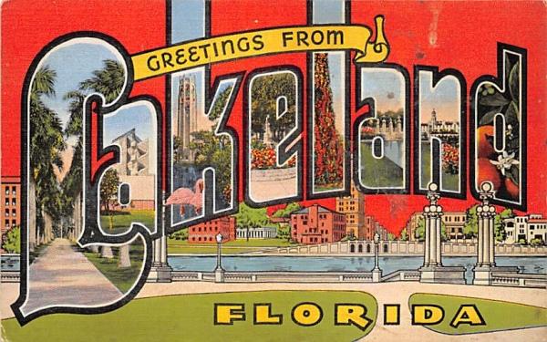 Greetings from Lakeland, FL, USA Florida Postcard