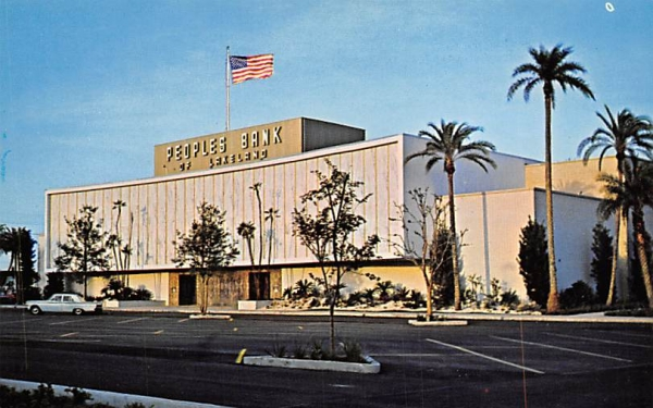Peoples Bank of Lakeland with Trust Department Florida Postcard