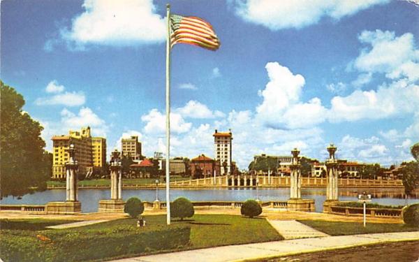 Overlooking Beautiful Civic Center Lakeland, Florida Postcard