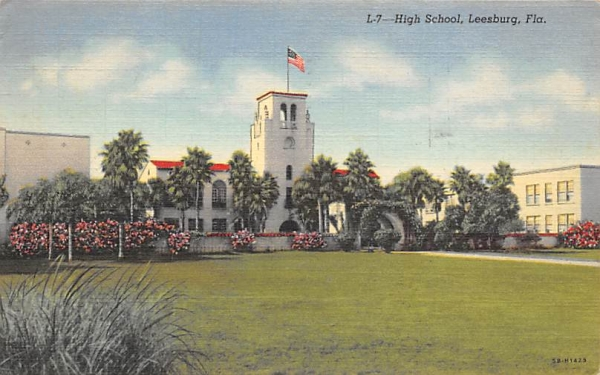High School Leesburg, Florida Postcard