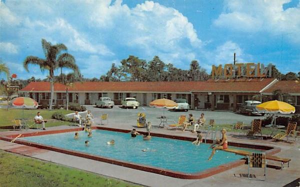 Poinsettia Motel Leesburg, Florida Postcard