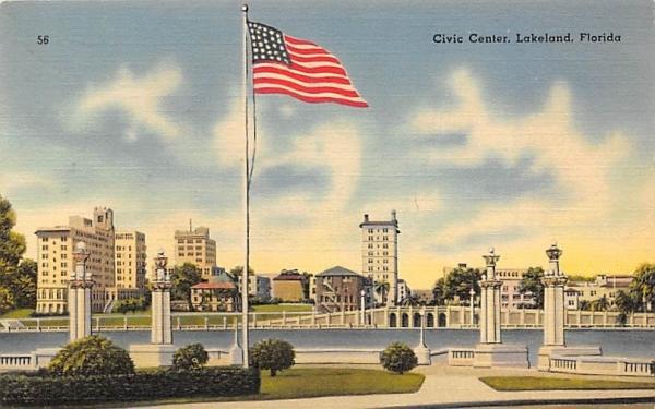 Civic Center Lakeland, Florida Postcard