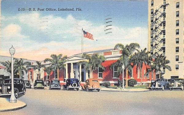 U.S. Post Office Lakeland, Florida Postcard