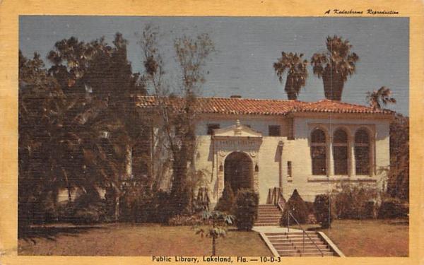 Public Library Lakeland, Florida Postcard