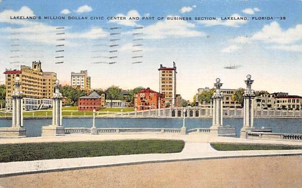 Lakeland's Million Dollar Civic Cente Florida Postcard
