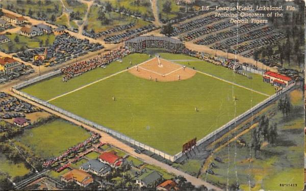 League Field Lakeland, Florida Postcard