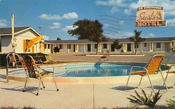 Siesta Motel Lakeland, Florida Postcard
