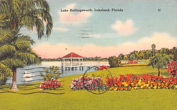 Lake Hollingsworth Lakeland, Florida Postcard