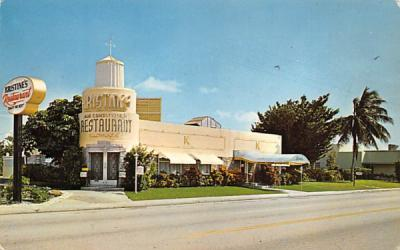 Kristine's Restaurant Lake Worth, Florida Postcard