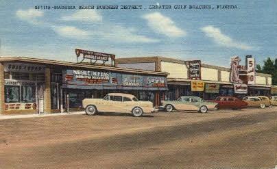 Madeira Beach Gulf Coast Holiday Isles Florida Vintage Postcard 1971