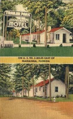 Copelands Motel - Marianna, Florida FL Postcard