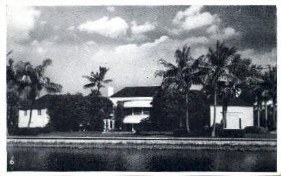 Bruce Dodson Home - Miami, Florida FL Postcard
