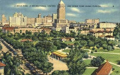 Lummus Park - Miami, Florida FL Postcard