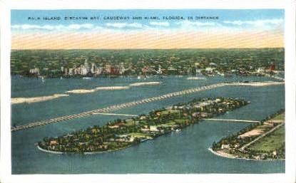 Palm Island - Miami, Florida FL Postcard