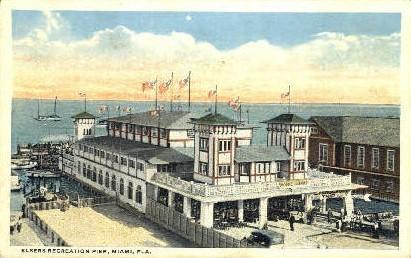 Elsers Recreational Pier - Miami, Florida FL Postcard