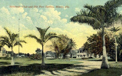 Seminole Club - Miami, Florida FL Postcard