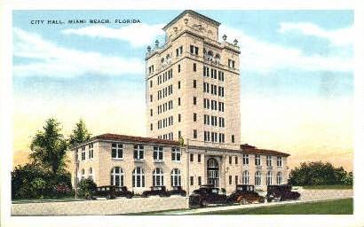 City Hall - Miami, Florida FL Postcard