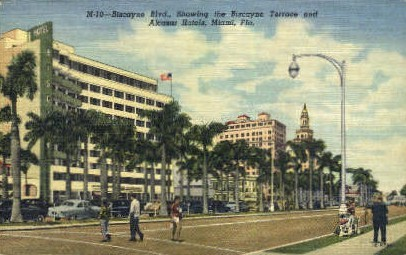 Biscayne Park - Miami, Florida FL Postcard