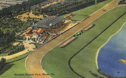 Hialeah Park - Miami, Florida FL Postcard