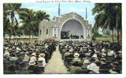 Band Concert - Miami, Florida FL Postcard