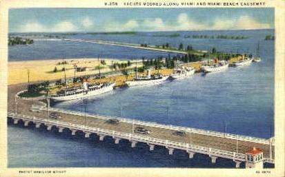 Miami Beach - Florida FL Postcard