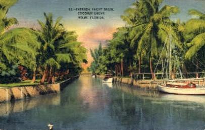 Coconut Grove - Miami, Florida FL Postcard