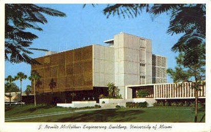 University of Miami - Florida FL Postcard