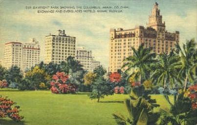 Columbus Hotel - Miami, Florida FL Postcard