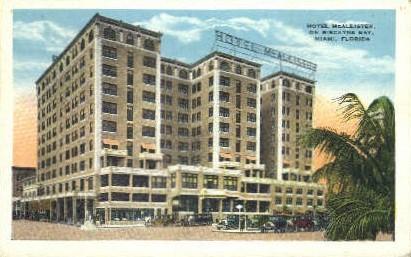 McAllister Hotel - Miami, Florida FL Postcard