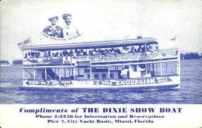 Dixie Show Boat - Miami, Florida FL Postcard