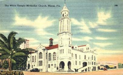 White Temple - Miami, Florida FL Postcard