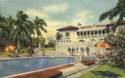 Villa - Miami, Florida FL Postcard